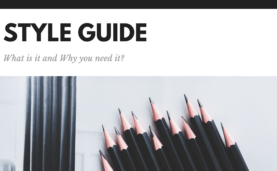 What is a Style guide and Why do you need it?