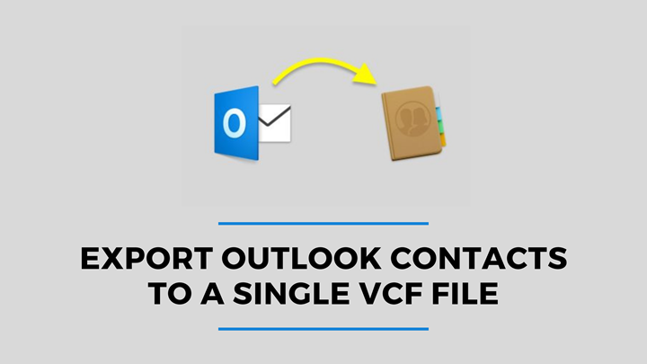 export outlook contacts to a single vcf file