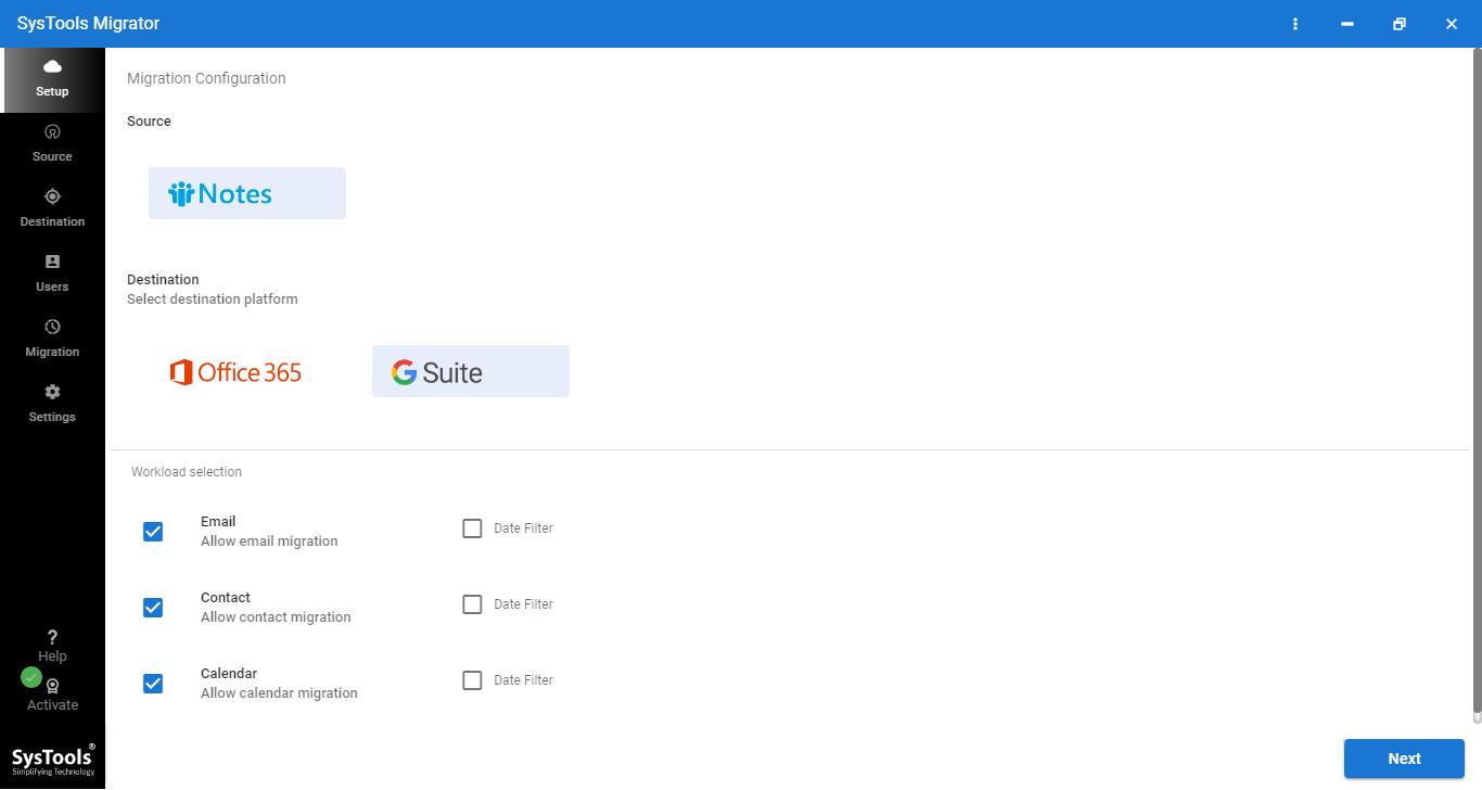 PCVITA Lotus Notes to Google Apps Migration tool